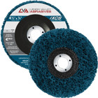 "4-1/2"" x 7/8"" Non-Woven Fiberglass Backed T27 Clean & Strip Disc (Blue / Extra Coarse)"