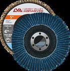 "5"" x 7/8"" Zirconia Flap Disc Type 29 Conical | 40 Grit T29 | LVA CFCAS50S040ZX"