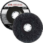 "4-1/2"" x 7/8"" Non-Woven Fiberglass Backed T27 Clean & Strip Disc (Black / Coarse)"