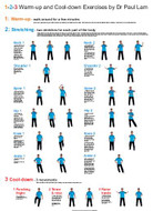Warm Up and Cool Down Exercises Wall Chart