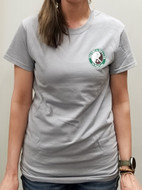 Gray T-Shirt with Logo and Chinese Characters - UNISEX