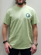 Green T-Shirt with Logo and Chinese Characters - UNISEX