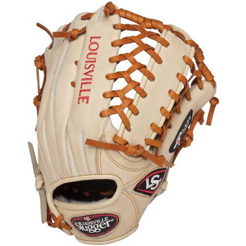 76e987cb94e Louisville Slugger Pro Flare Cream 13 inch Outfield Baseball Glove (Left  Handed Throw)
