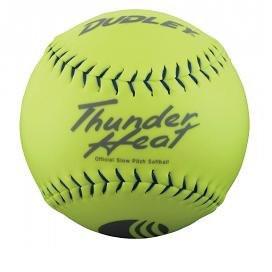 "Dudley .40 Core Classic W Thunder Heat 325lb 11"" Yellow Softballs Cover Synthetic 1 Doz USSSA Softballs"