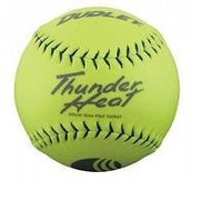 "Dudley .40 Core Classic M Thunder Heat 325lb 12"" Yellow Softballs Cover Synthetic (1 Dozen) USSSA Softballs"