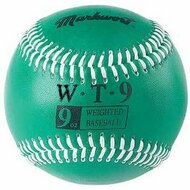 "Markwort Weighted 9"" Leather Covered Training Baseball (9 OZ)"