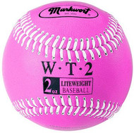 "Markwort Weighted 9"" Leather Covered Training Baseball (2 OZ)"