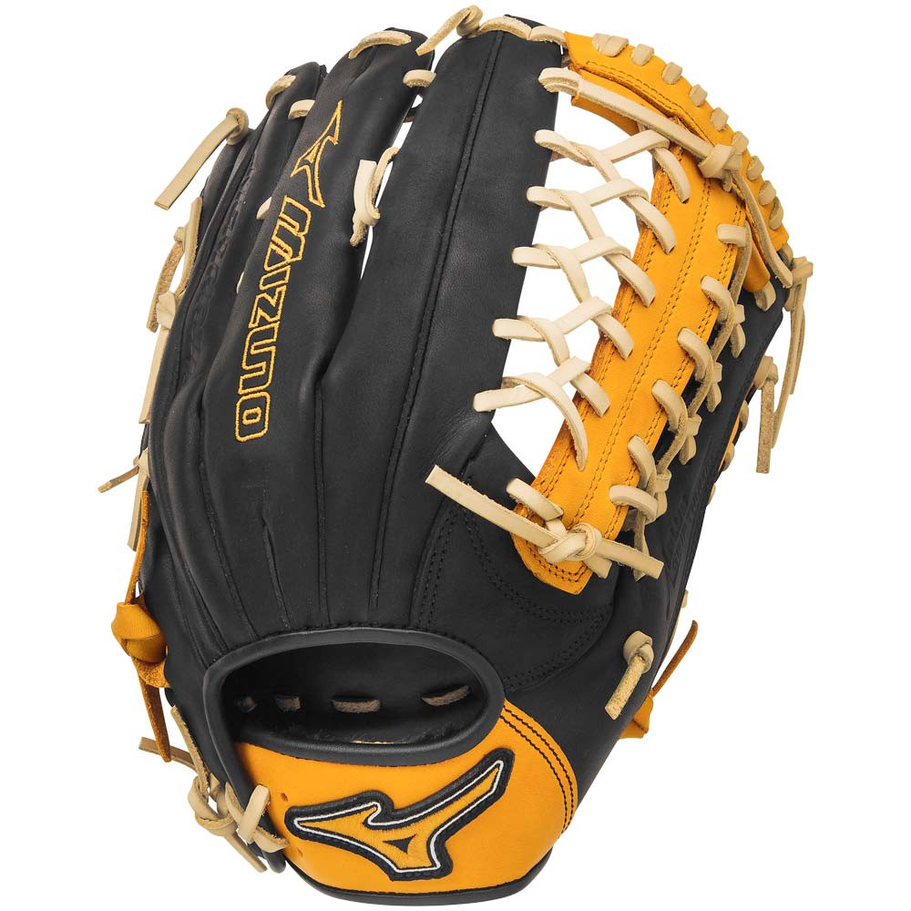 Mizuno GMVP1277SE4 MVP Prime SE Baseball Glove Black Gold Right Hand Throw  - Ballgloves 89d7eceaeb83