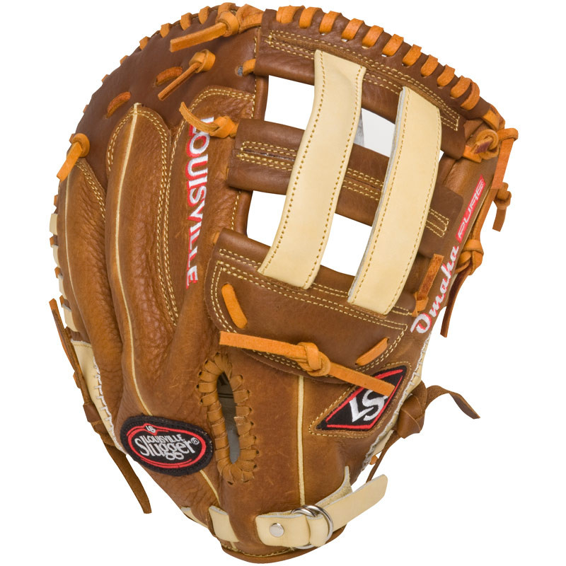 b9fe64949dd Louisville Slugger Omaha Pure Brown First Base Mitt - Ballgloves