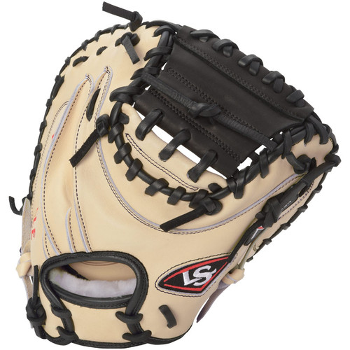 Louisville Slugger Pro Flare Catcher's Mitt Cream Black Right Hand Throw