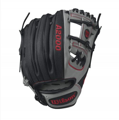 Wilson A2000 SuperSkin 1788 Baseball Glove GreyRed 11.25inch Right Hand Throw