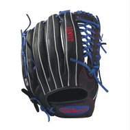 Wilson Bandit Kp92 Baseball Glove 12.5 inch BlackRoyalWhite Left Hand Throw