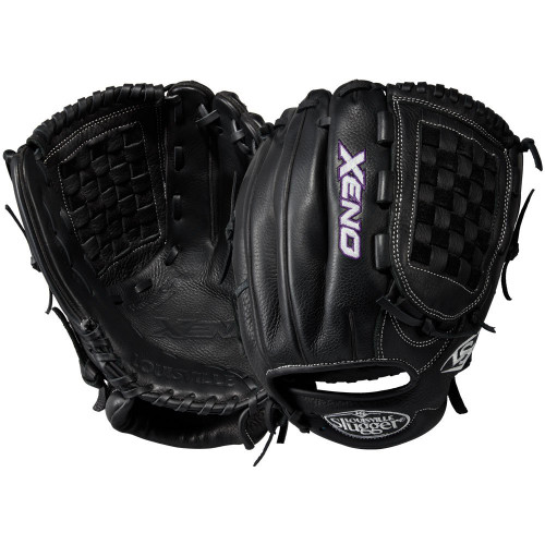 Louisville Slugger Xeno 12 Inch Fastpitch Softball Glove Closed Basket Black Right Hand Throw