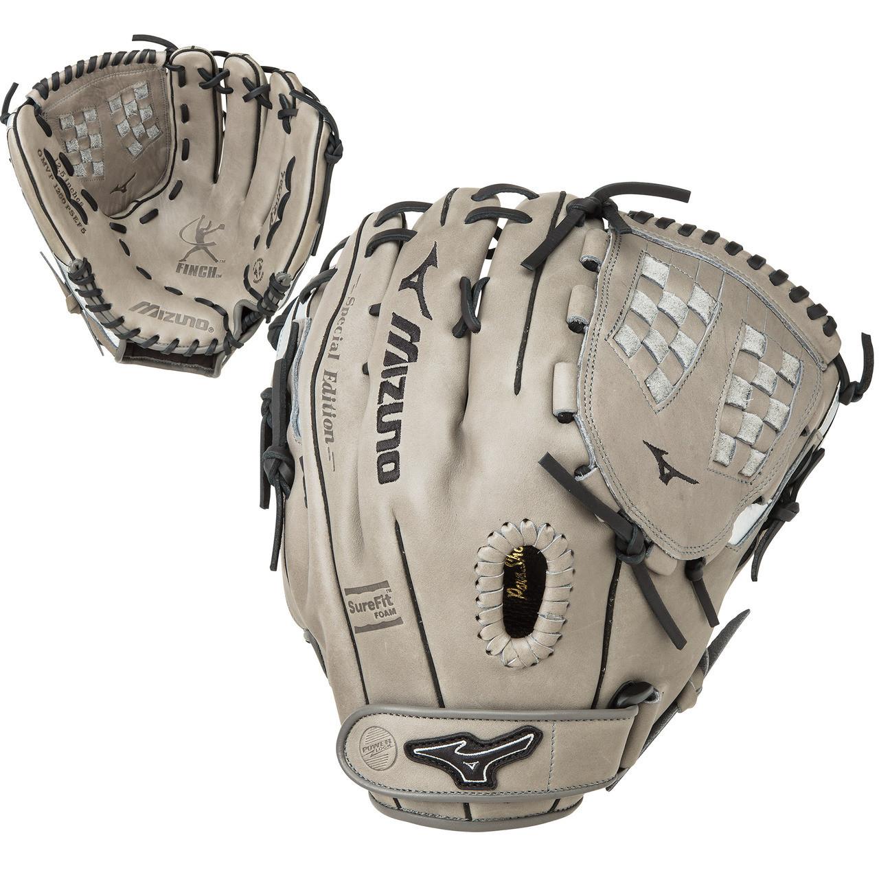 Mizuno MVP Prime SE 12.5 Inch GMVP1250PSEF5 Grey Black Fastpitch Softball  Glove Right Hand Throw - Ballgloves 9a4f14391