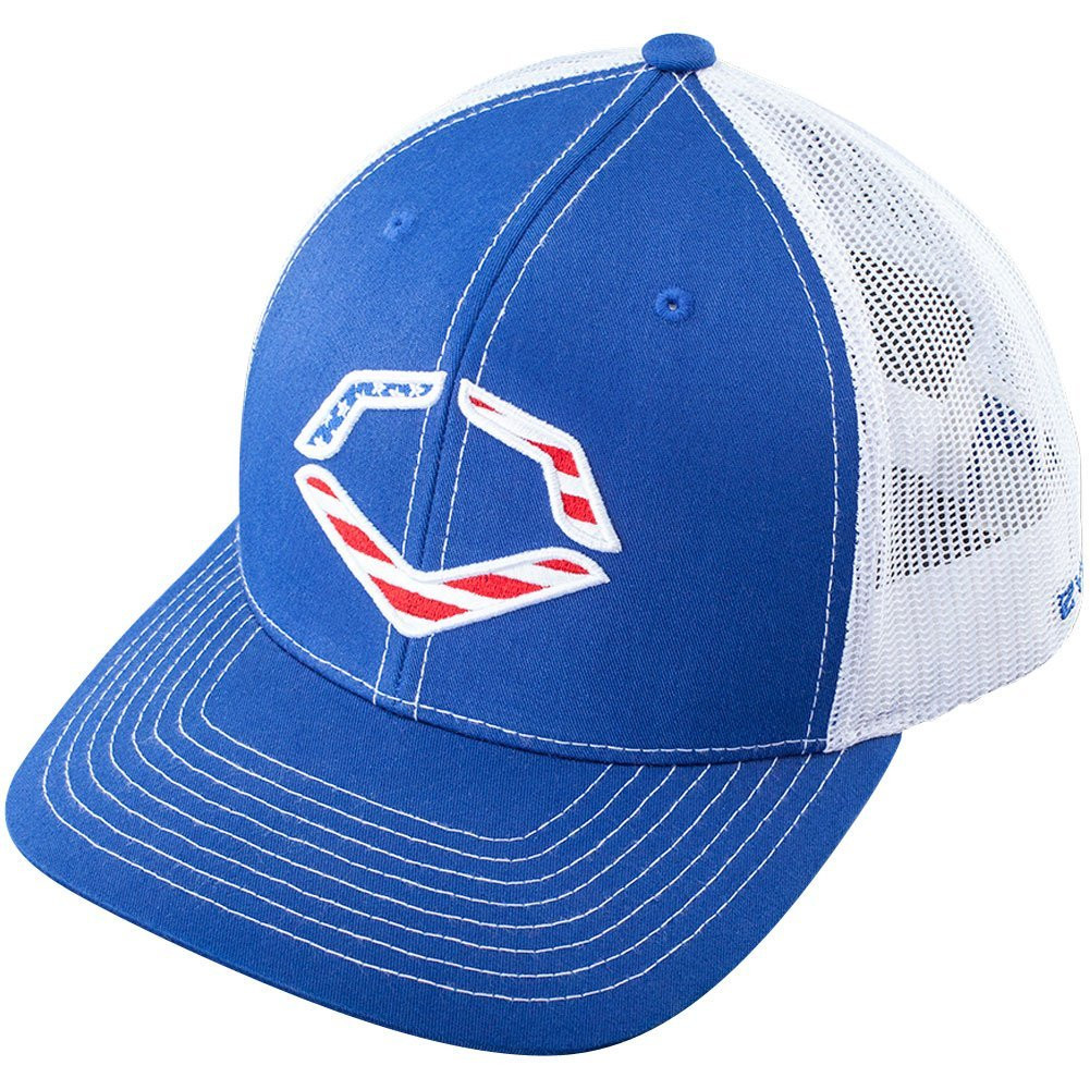 1a6cbcfb ... promo code wilson sporting goods evoshield usa snapback trucker hat  royal white 449ea 9eac2