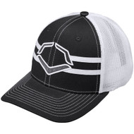 Wilson Sporting Goods Evoshield Grandstand Flexfit Hat Charcoal White Large X-Large 7 3/8 - 7 5/8