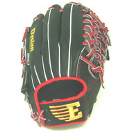 Elysian Baseball Glove 12 inch Red Black Mod Trap Right Hand Throw