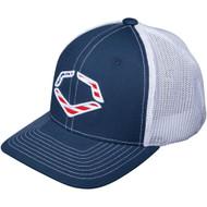 Wilson Sporting Goods Evoshield Usa Logo Flexfit Trucker Hat Navy Small Medium