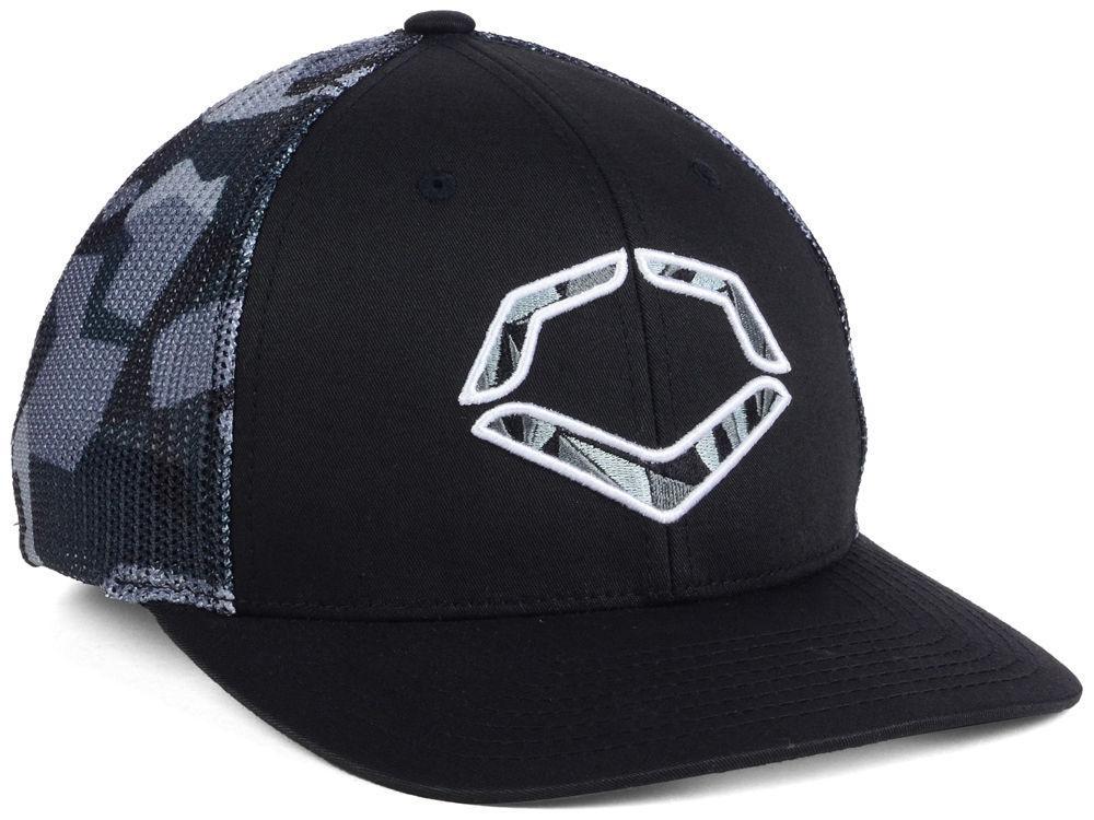4575f8d17e1 Evoshield Shrapnel Flex-Fit Trucker Hat Black Small Medium - Ballgloves