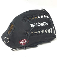 Nokona Bison Black Alpha 12.25 Baseball Glove S-7TB Right Hand Throw