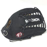 Nokona Bison Black Alpha 12.25 Baseball Glove S-7TB Right Hand Throw