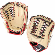 All-Star Pro Elite 11.75 Baseball Glove Cream Black Scarlet Right Hand Throw