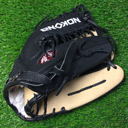 Nokona Black Alpha 12.75 Baseball Glove USED Right Hand Throw