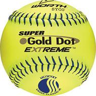 Worth Gold Dot Extreme Classic M USSSA 12 Inch Softballs 1 Dozen UC12CYXT