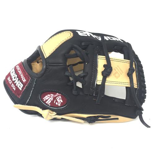 Nokona Bison Black Alpha Baseball Glove S-200IB 11.25 inch Right Hand Throw