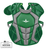 All-Star S7 Axis Chest Protector 12-16 - 15.5 Dark Green NOCSAE