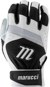 Marucci Code Adult Batting Gloves 1 Pair White Black Adult Small