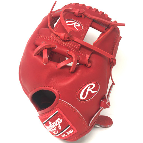Rawlings Heart of Hide PRO200 Baseball Glove Red I Web 11.5 Right Hand Throw