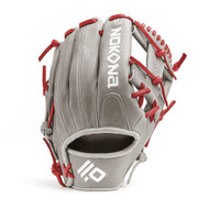 Nokona American KIP 14U Gray with Red Laces 11.25 Baseball Glove I-Web Right Hand Throw