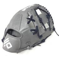 Nokona American KIP 14U Gray with Navy Laces 11.25 Baseball Glove I-Web Right Hand Throw