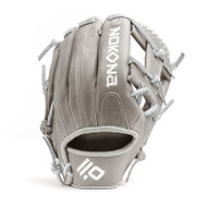 Nokona American KIP 14U Gray with Silver Laces 11.25 Baseball Glove I-Web Right Hand Throw