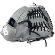 Nokona AmericanKip 14U Gray with Black Laces 11.25 Baseball Glove Mod Trap Web Right Hand Throw