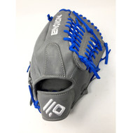 Nokona AmericanKip 14U Gray with Royal Laces 11.25 Baseball Glove Mod Trap Web Right Hand Throw