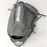 Nokona AmericanKip 14U Gray with Silver Laces 11.25 Baseball Glove Mod Trap Web Right Hand Throw
