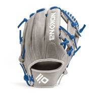Nokona American KIP Gray with Royal Laces 11.5 Baseball Glove I-Web Right Hand Throw