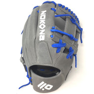 Nokona American KIP Gray with Royal Laces 11.5 Baseball Glove I-Web Right Hand Throw