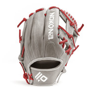 Nokona American KIP Gray with Red Laces 11.5 Baseball Glove I-Web Right Hand Throw