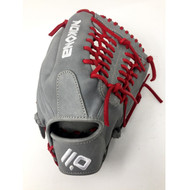 Nokona American KIP Gray with Red Laces 11.5 Baseball Glove Mod Trap Web Right Hand Throw