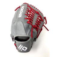 Nokona American KIP Gray with Red Laces 11.5 Baseball Glove Mod Trap Web Right Hand Throw