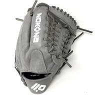Nokona American KIP Gray with Grey Laces 11.5 Baseball Glove Mod Trap Web Right Hand Throw