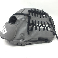 Nokona American KIP Gray with Black Laces 12 Baseball Glove Mod Trap Web Right Hand Throw