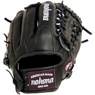 Nokona Bloodline Pro Elite Black Baseball Glove Modified Trap 11.5 Inch (Right Handed Throw)