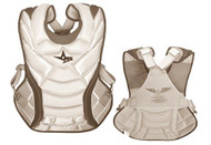 """All-Star System 7 Womens Chest Protector 13"""" (White/Scarlett)"""