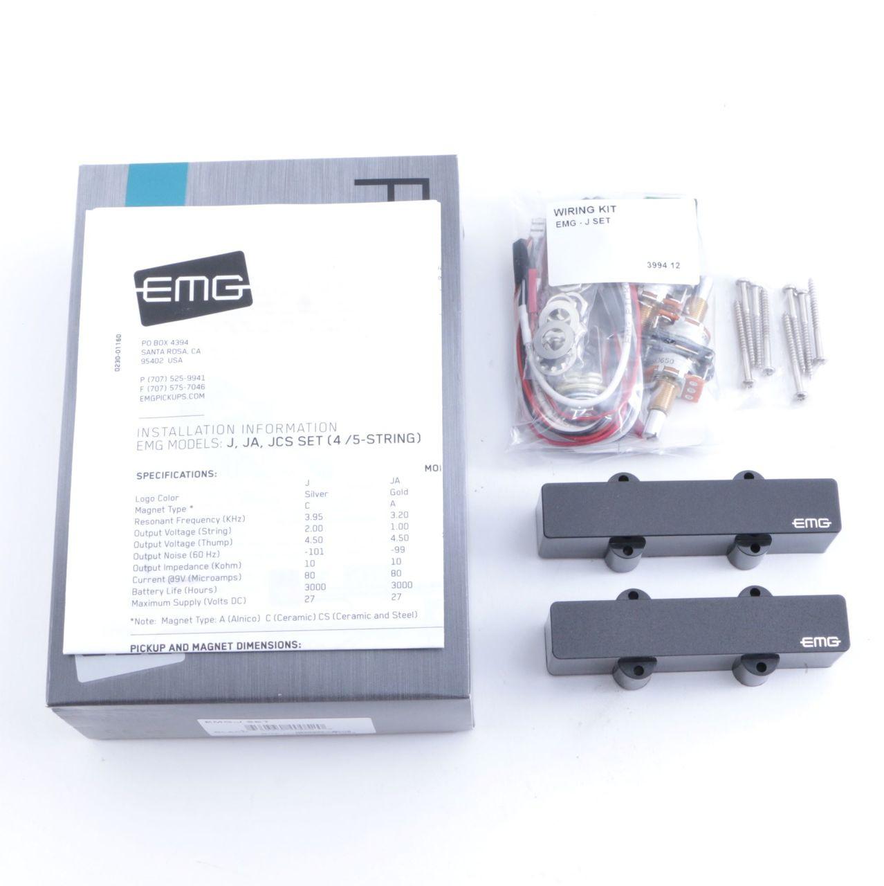 EMG-J 4-String Jazz Bass Guitar Active Pickup & Wiring Black