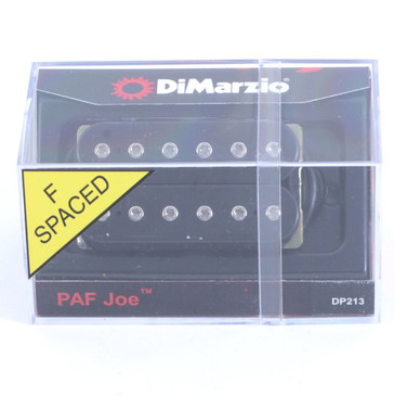 DiMarzio DP213 PAF Joe Humbucker Pickup Black F-Spaced Joe Satriani