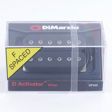 DiMarzio DP220 D-Activator Bridge Humbucker Guitar Pickup F-Spaced Black